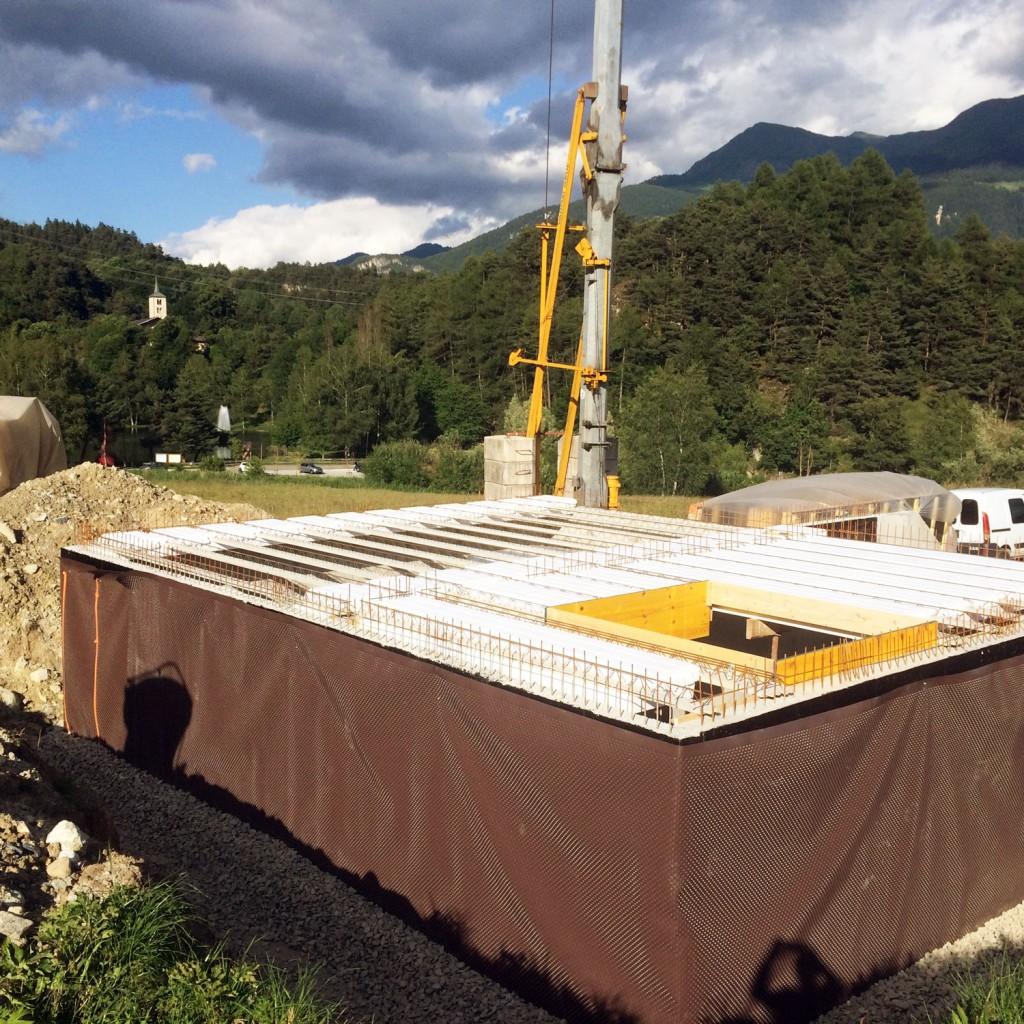 Soubassement complet d'une maison en Savoie